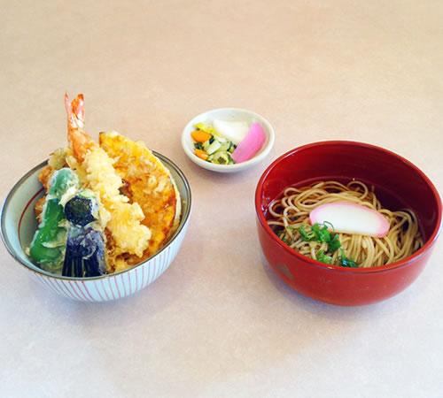 ミニ天丼&ミニ麺セット